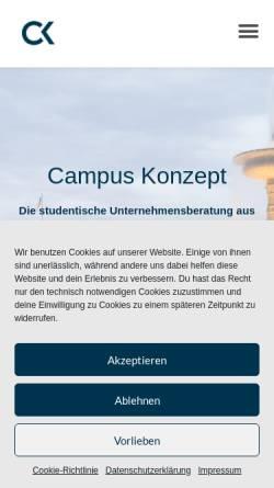 Vorschau der mobilen Webseite www.campus-konzept.de, Campus-Konzept Stuttgart e.V.