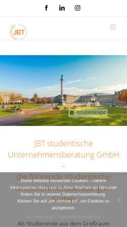 Vorschau der mobilen Webseite www.studentische-beratung.de, Junior Business Team e.V.