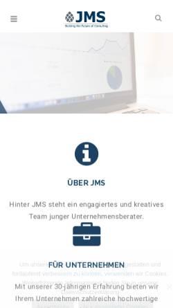 Vorschau der mobilen Webseite www.jms-augsburg.de, Junior Management Spektrum e.V.