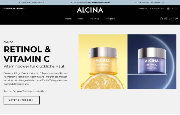 Vorschau von www.alcina.com, ALCINA Cosmetic - Dr. Kurt Wolff GmbH & Co. KG