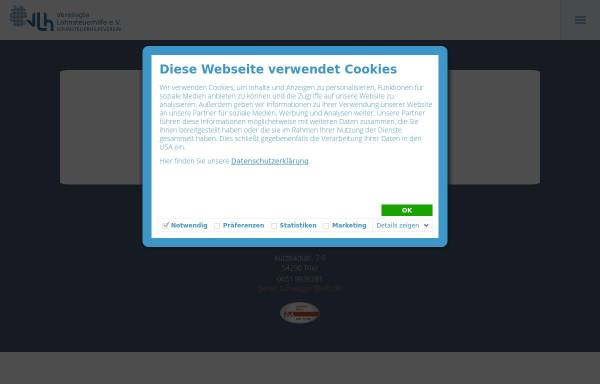 Vorschau von www.vlh.de, Vereinigte Lohnsteuerhilfe Beratungsstelle Trier