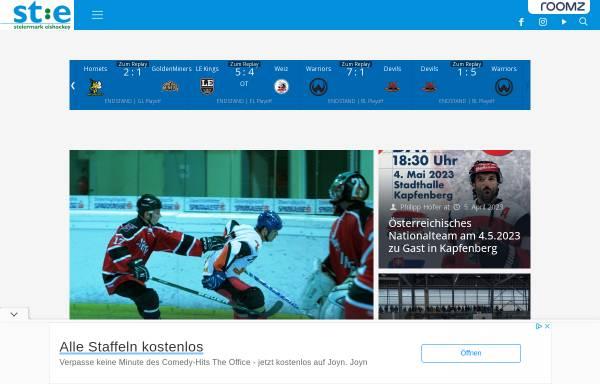 Vorschau von www.stehv.at, Steirischer Eishockeyverband