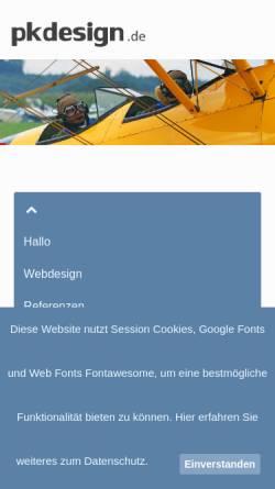 Vorschau der mobilen Webseite pkdesign.de, PKDesign