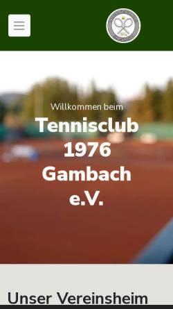 Vorschau der mobilen Webseite www.tcgambach.de, TC 1976 Gambach e.V.