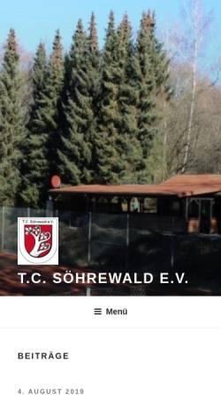 Vorschau der mobilen Webseite www.tc-soehrewald.de, TC Söhrewald e.V.