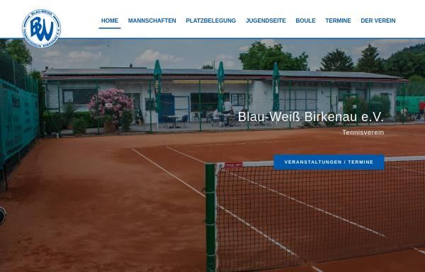 Vorschau von www.bw-birkenau.de, Tennisverein Blau-Weiß Birkenau e.V.