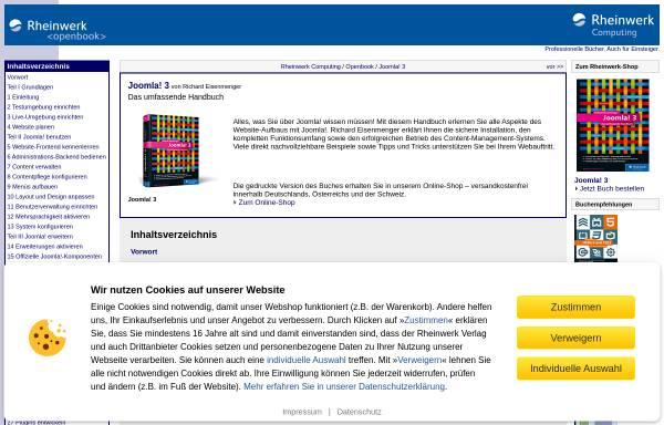 Vorschau von openbook.galileocomputing.de, Joomla 1.5