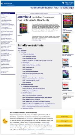 Vorschau der mobilen Webseite openbook.galileocomputing.de, Joomla 1.5