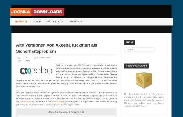 Vorschau von www.joomla-downloads.de, Joomla Downloads
