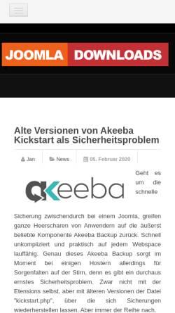 Vorschau der mobilen Webseite www.joomla-downloads.de, Joomla Downloads