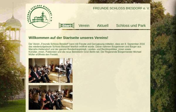 Vorschau von www.stiftung-schloss-biesdorf.de, Stiftung Ost-West-Begegnungsstätte Schloss Biesdorf e.V.