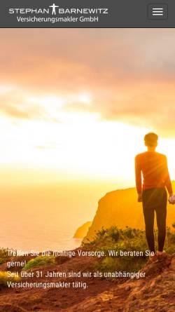 Vorschau der mobilen Webseite www.barnewitz-web.de, Stephan Barnewitz Versicherungsmakler GmbH
