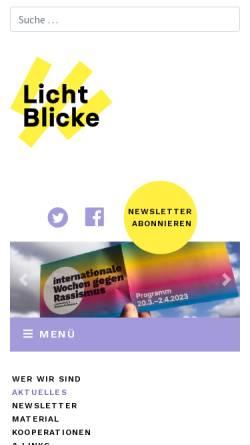 Vorschau der mobilen Webseite www.licht-blicke.org, Licht Blicke