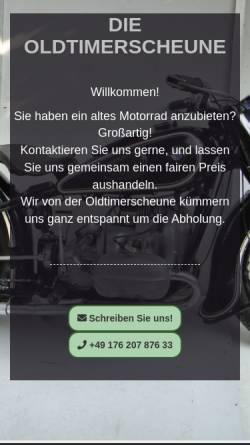 Vorschau der mobilen Webseite die-oldtimerscheune.de, Die Oldtimerscheune
