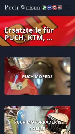 Vorschau der mobilen Webseite puch-wieser.at, Puch-Wieser