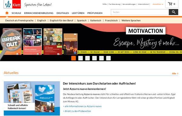 Vorschau von www.klett-sprachen.de, Ernst Klett Sprachen GmbH