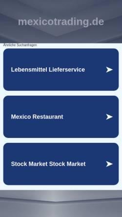 Vorschau der mobilen Webseite www.mexicotrading.de, Mexico Trading GmbH
