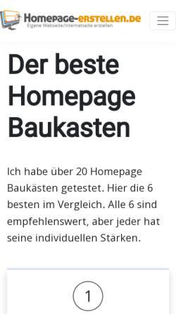 Vorschau der mobilen Webseite homepage-erstellen.de, Homepage-erstellen.de