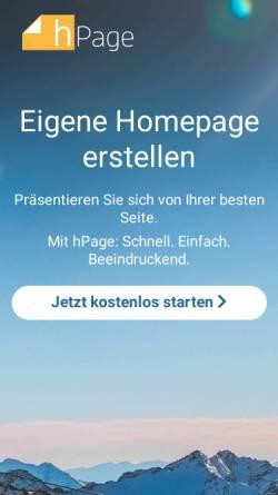 Vorschau der mobilen Webseite de.hpage.com, nPage.de