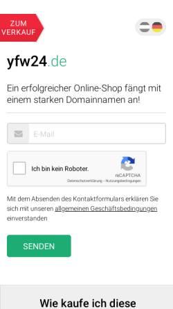 Vorschau der mobilen Webseite www.yfw24.de, Your free Website - Oliro KG