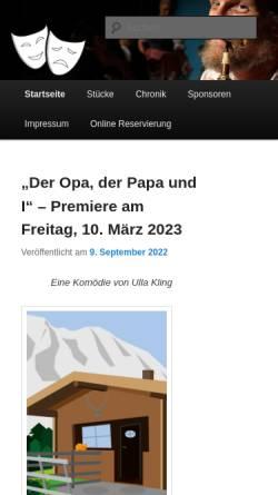 Vorschau der mobilen Webseite www.volksbuehne-ampass.at, Ampass, Volksbühne