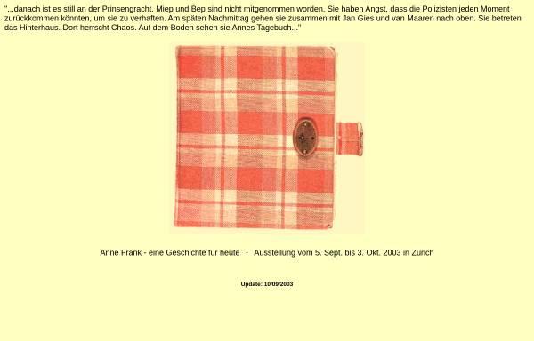 Vorschau von www.kugelbahn.ch, Anne Frank - eine Geschichte für heute