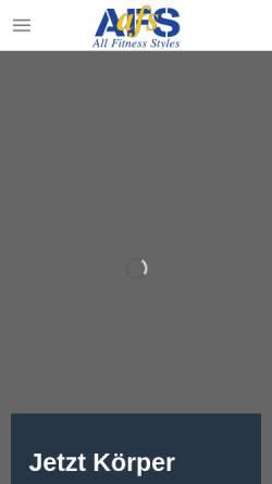 Vorschau der mobilen Webseite www.afs-hanau.de, All Fitness Styles