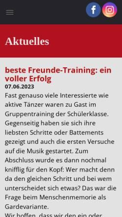 Vorschau der mobilen Webseite www.tsc-steinheim1996.de, Tanzsportclub Weiss-Rot Steinheim e.V.