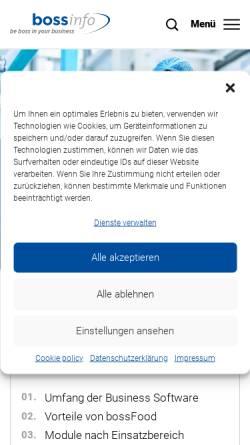 Vorschau der mobilen Webseite www.metzger.ch, Treffpunkt Metzger Spezialitäten