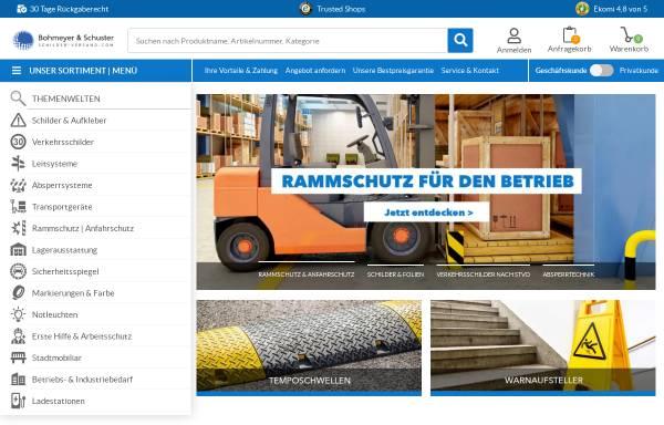 Vorschau von www.schilder-versand.com, Bohmeyer & Schuster GmbH