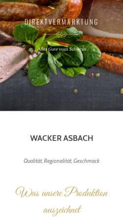 Vorschau der mobilen Webseite wacker-asbach.de, Wacker-Asbach