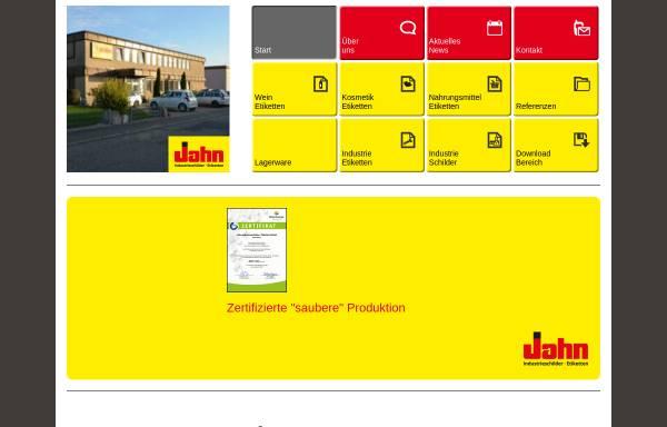 Vorschau von www.g-jahn.de, G. Jahn Industrieschilder