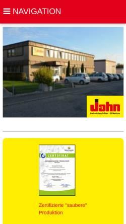 Vorschau der mobilen Webseite www.g-jahn.de, G. Jahn Industrieschilder
