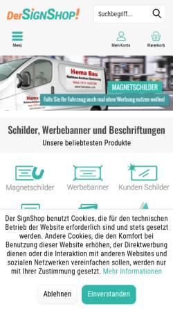 Vorschau der mobilen Webseite www.werbeservice.de, H&B Werbeservice GmbH