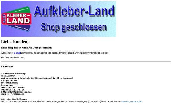Vorschau von www.aufkleber-land.de, Holznagel's Aufkleber-Land GbR - Bianca & Jan-Oliver Holznagel