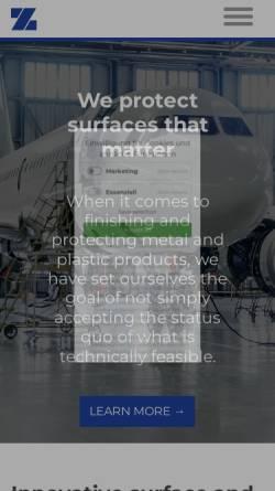 Vorschau der mobilen Webseite www.zitt.de, Karl Zitt GmbH & Co.