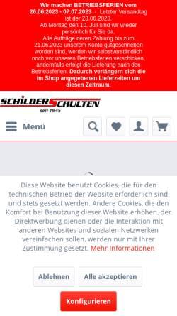 Vorschau der mobilen Webseite www.schilder-schulten.de, Schilder-Schulten GbR
