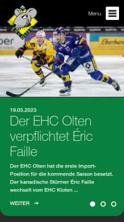 Vorschau der mobilen Webseite www.ehco.ch, EHC Olten