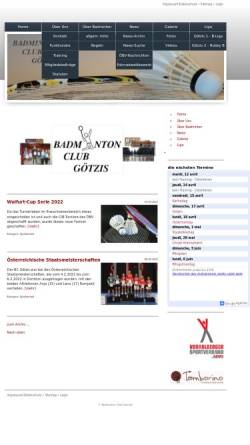 Vorschau der mobilen Webseite www.bc-goetzis.at, Badminton-Club Götzis