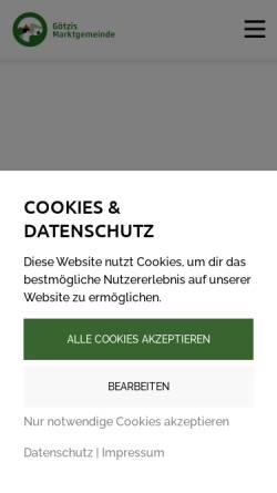 Vorschau der mobilen Webseite goetzis.at, Marktgemeinde Götzis