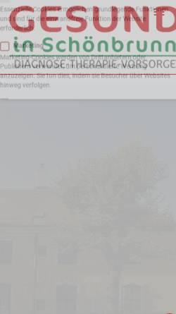 Vorschau der mobilen Webseite www.gesundinschoenbrunn.at, Dr. Ulli Enzenberg
