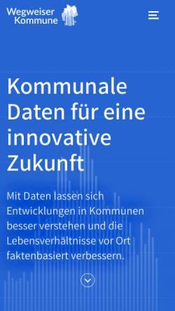 Vorschau der mobilen Webseite www.wegweiserdemographie.de, Wegweiser Demographischer Wandel