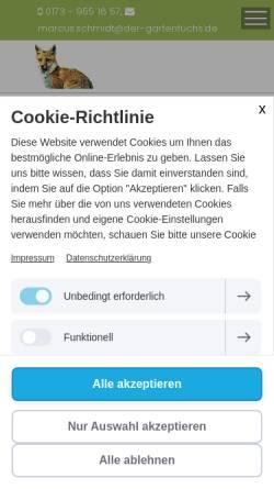 Vorschau der mobilen Webseite www.der-gartenfuchs.de, Marcus Schmidt