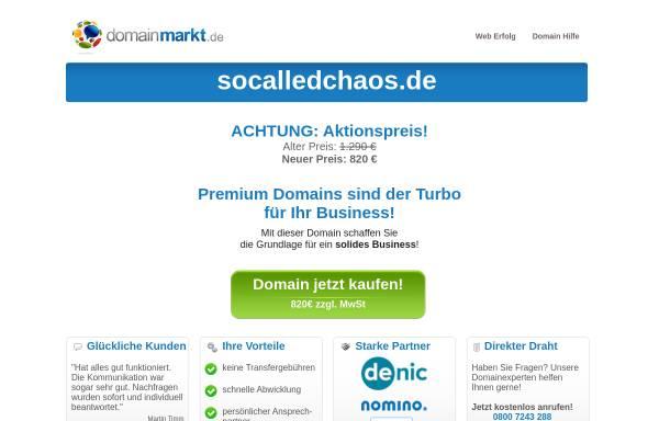 Vorschau von socalledchaos.de, SoCalledChaos