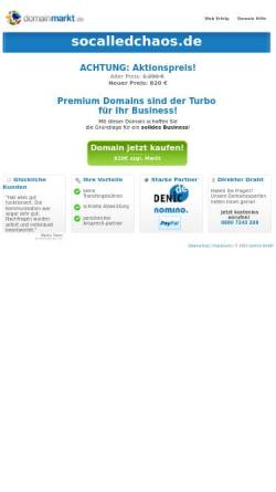 Vorschau der mobilen Webseite socalledchaos.de, SoCalledChaos