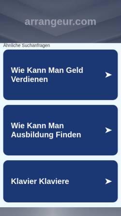 Vorschau der mobilen Webseite www.arrangeur.com, Schmelzer, Christian