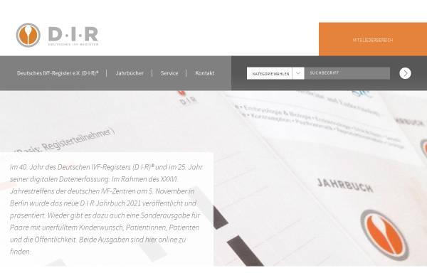 Vorschau von www.deutsches-ivf-register.de, D-I-R Deutsches IVF Register