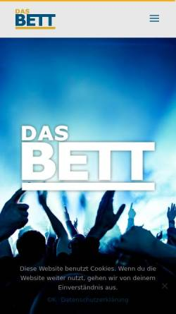 Vorschau der mobilen Webseite www.bett-club.de, Das Bett