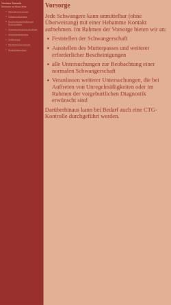 Vorschau der mobilen Webseite www.hebamme-koeln.de, Hebamme Verena Zuszek