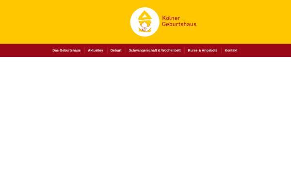 Vorschau von www.koelner-geburtshaus.de, Kölner Geburtshaus e.V.